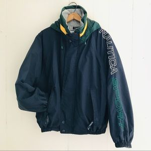 Vintage Nautica Spell Out Reversible Jacket
